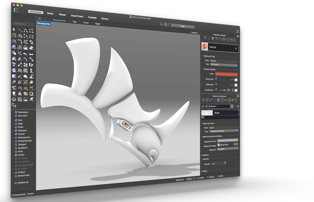 Üçölçülü qrafika proqramı Rhinoceros 3D